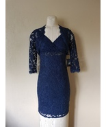 NWT Adrianna Papell Deep Blue  Beaded Mesh Lace & Jacket  size 2 $244 - $64.99