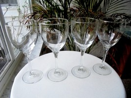 Set of 4 Libbey Rock Sharpe Domaine Clear Crystal Water Glasses - $36.62