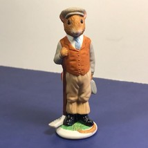 Franklin Mint Woodhouse Mouse Figurine Porcelain Mice 1985 Henry Rake Gardener - $19.75