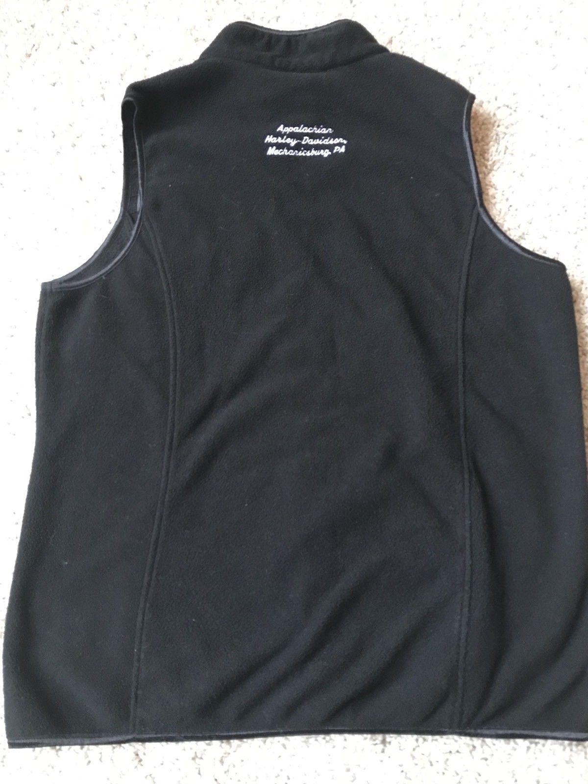 women 39 s black harley davidson vest zip up l and 50 similar items. Black Bedroom Furniture Sets. Home Design Ideas