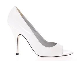Dolce & Gabbana Women White Open Toe Leather Pumps Shoes EU35/US4.5 - $183.13