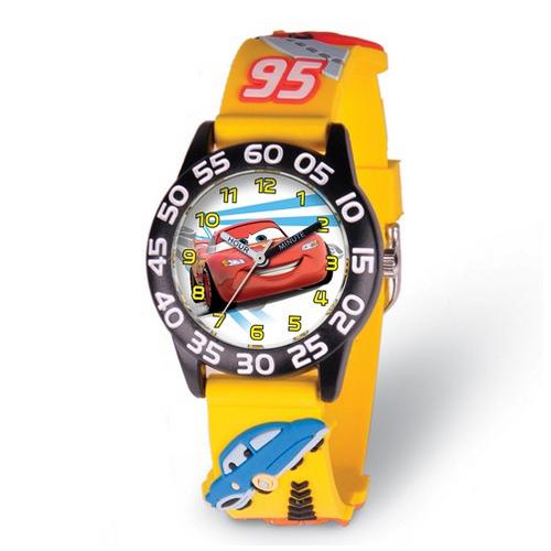 Disney Kids Cars Lightning McQueen Acrylic Time Teacher Watch - $29.00