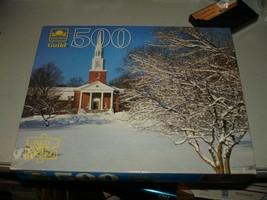 "Golden Guild ""Massachusetts Church"" #4615-50 500 Piece Puzzle, Brand New... - $16.82"