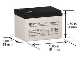Helios FB12-12 SLA battery Replacement By SigmasTek - $25.73