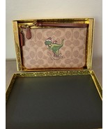 NWT Coach Rexy Leather Wristlet Purse Bag Beige Christmas Gift Boxed - $95.00