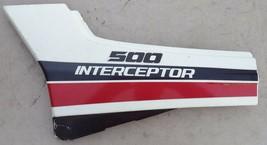 '85 VFR500 VFR 500 INTERCEPTOR LEFT SIDE PANEL FAIRING PLASTIC COVER COW... - $45.64