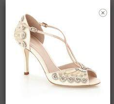 EMMY LONDON FRANCESCA WEDDING SHOES EU size 38 NIB Blush Heels Beaded Sa... - $979.11