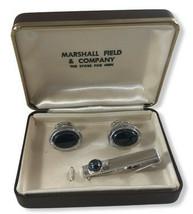 Vintage Pre-1970 Swank Cufflinks & Tie Clip from Marshall Field & Company - $24.70