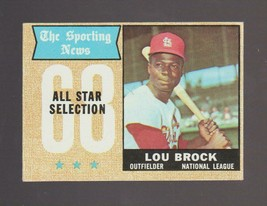 1968 Topps # 372 Lou Brock All Star St. Louis Cardinals EXCELLENT - $6.50