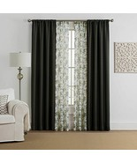 "Marrakesh 4-Pack 84"" Rod Pocket Solid with Printed Voile Window Curtain ... - $24.26"