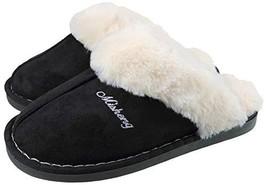 ChayChax Women's Slippers Warm Fluffy Plush Micro Suede Memory Foam Hous... - $20.18