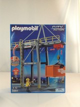 New Playmobil City Action 5254 Motorized Cargo Loading Crane Toy Playset - $70.11