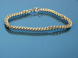 Auth CHRISTIAN DIOR Gold Plate Bracelet Chain Accessories Used Good Condition - $157.41