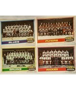 1980-81 Topps Hockey Team Photo 5x7 Poster Pinup LOT Blues Bruins Flyers... - $3.95