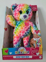 "Build a Bear Workshop Secret Diary Bear Rainbow Heart Fur Recordable 11""... - $21.99"