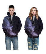 Fashion Space Galaxy Hoodies 3d Sweatshirts Print Stars Nebula Thin Hood... - $42.00