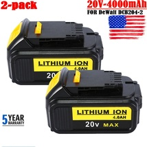 2 X 20Volt For DeWalt 20V Max XR 4.0AH Lithium Ion Battery DCB205 DCB206-2 Drill - $68.50