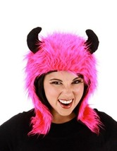 Magenta MINOTAUR Pink Costume Bull Hoodie Hat w/ Horns Greek Legend - $8.66