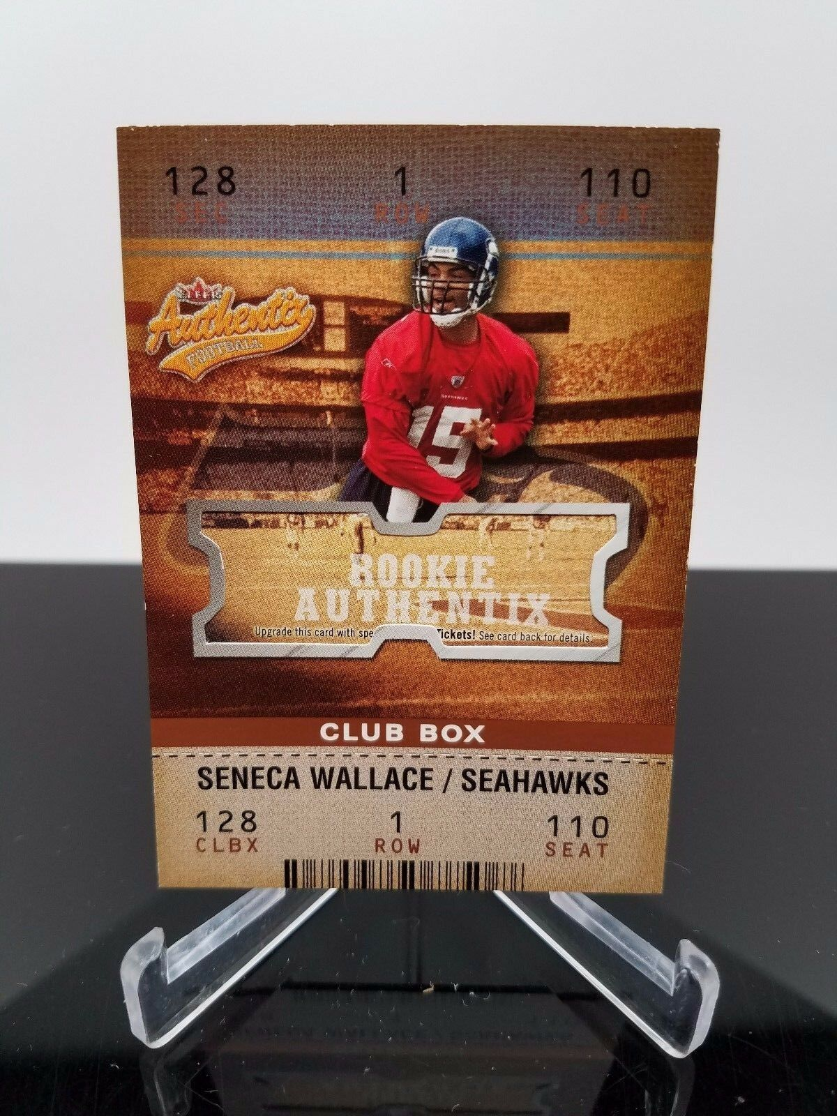 2003 Fleer Seneca Wallace #125 Rookie Authentix 009/100