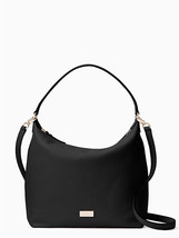 Kate Spade Kaia Prospect Place Pebble Leather Hobo In Black - $139.00