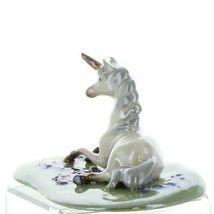 Hagen Renaker Unicorn Lying Ceramic Figurine image 3