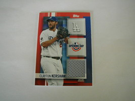 2020 TOPPS OPENING DAY RELIC CLAYTON KERSHAW CARD # ODR-CK LOS ANGELES D... - $19.79