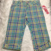 2B Real Girls Plaid Capri Pants Size 7/8  Blue, Cotton, NEW - $17.82