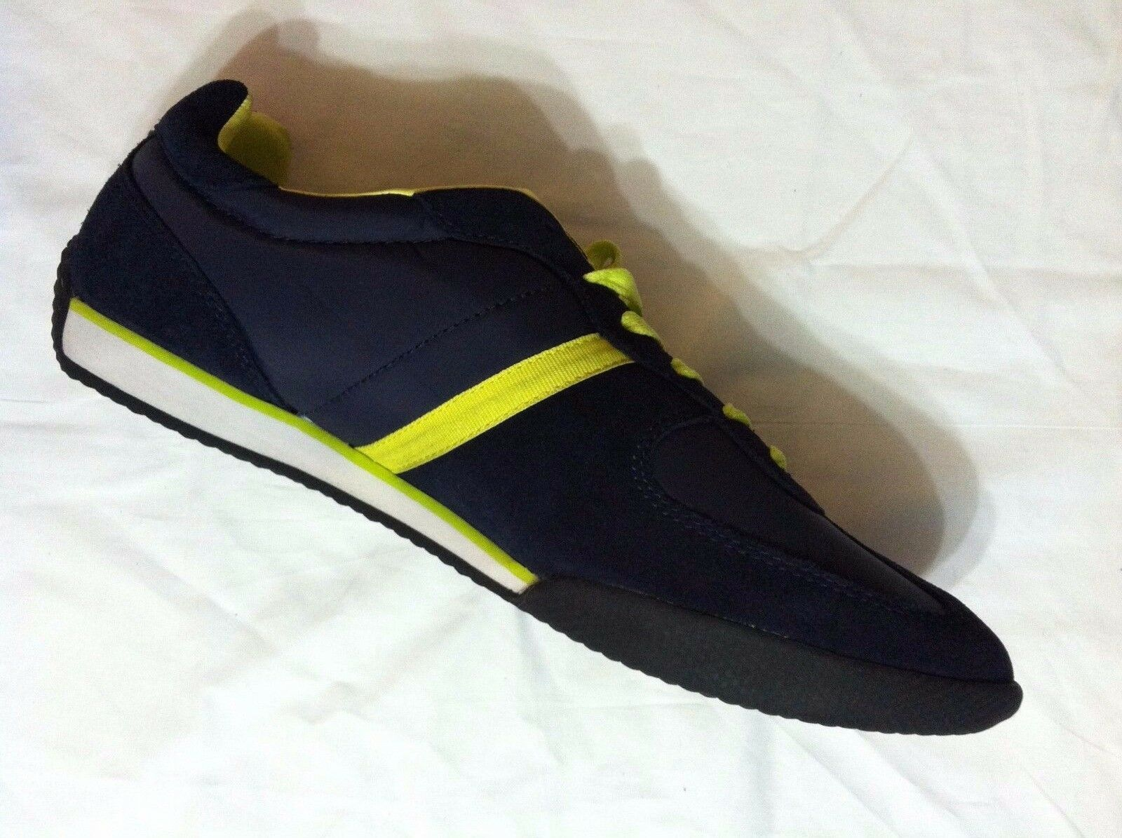 POLO RALPH LAUREN MENS NEW NAVY BLUE LEATHER/FABRIC FASHION SNEAKERS SIZE:11.5