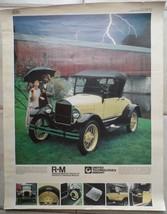 1926 Ford Roadster Model T United Technologie Inmont Vintage 1982 Poster... - $49.50
