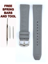 Compatible Armani AR1063 20mm Gray Rubber Watch Strap (Similar) ARM131 - $19.79