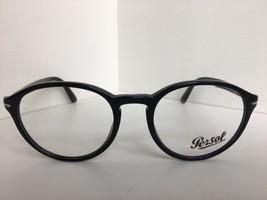 New Persol 3162-V 95 52mm Rx Round Black Eyeglasses Frame Italy - $139.99