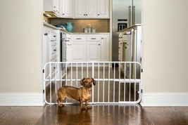 Expendable Pet Gate Small Door Indoor Home Cat Dog Locking System Safe S... - $28.16