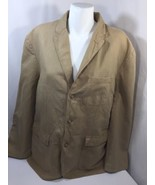 J.crew Men Brown Jacket  Button Up Long Sleeve Cotton Regular Fit Thick ... - $18.70