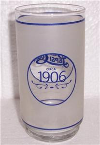 Anchor Hocking Pepsi-Cola Collectible Replica 1906's Frosted Glass Tumbler