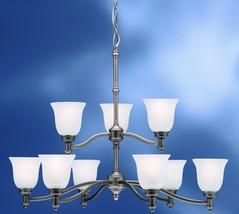 Kichler Lighting Hanging Chandelier Antique Pewter Finish transitional Satin Etc - $182.69
