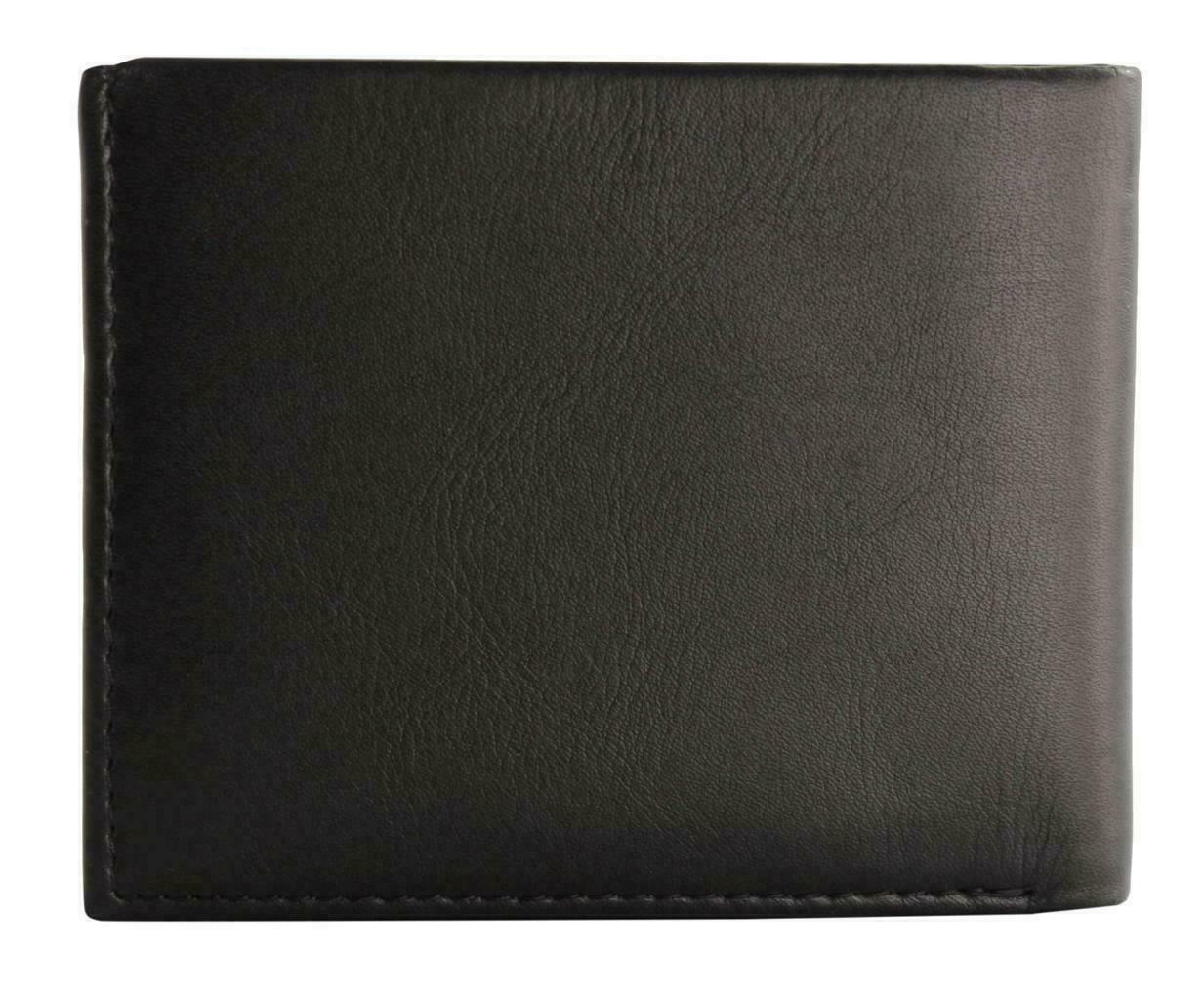 Guess Men's Premium Leather Double Billfold Credit Card Wallet Black 31GU13X030