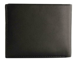 Guess Men's Premium Leather Double Billfold Credit Card Wallet Black 31GU13X030 image 1