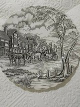Vtg Royal Mail Fine Staffordshire Ironstone Horse Carriage Dinner Plate England - $16.83