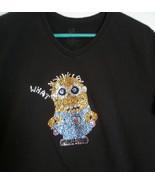 Rhinestone Minion Cotton T shirt - $15.00
