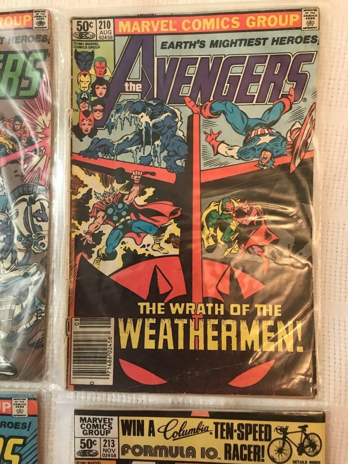 4 Marvel Comics Group The Avengers #208,210,212,213 G+