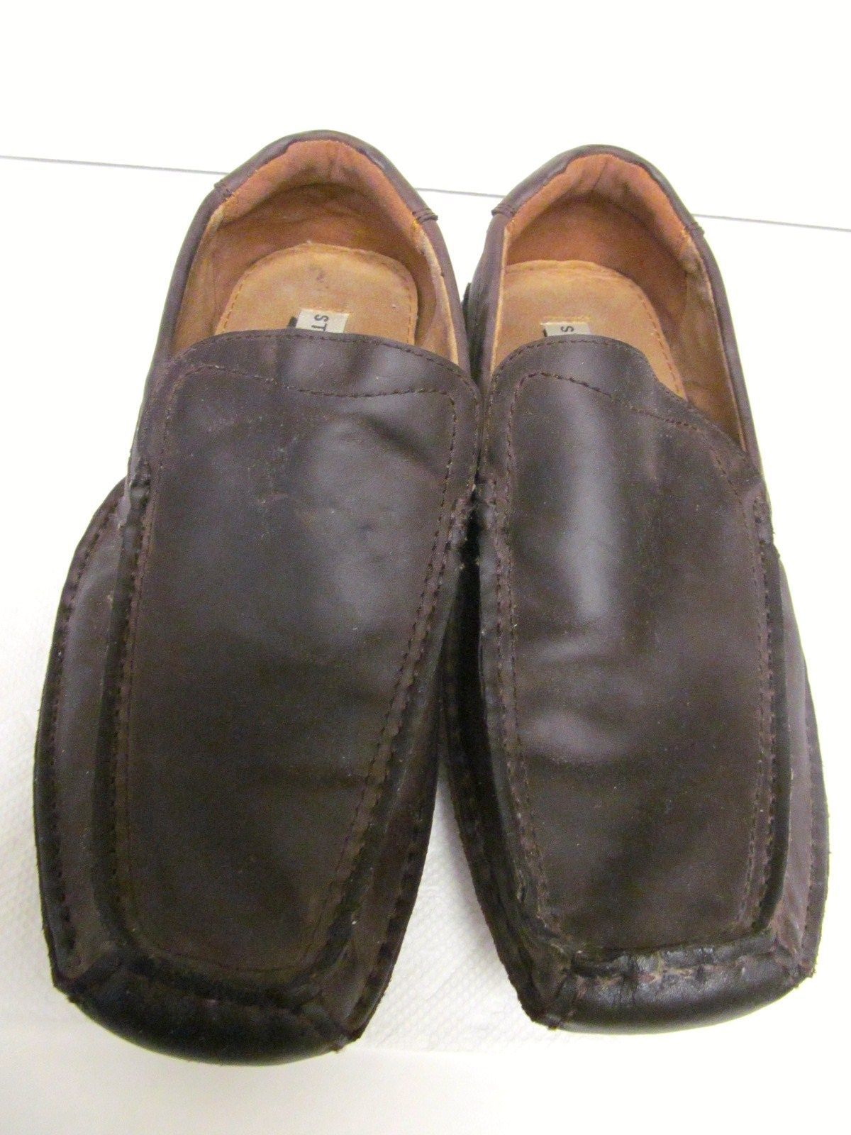 6bc8eb5ffc9 STEVE MADDEN Noted Leather Loafers Mocs Shoes Slip On Driving Brown Women s  8.5