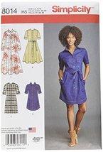 Simplicity Patterns Misses' Shirt Dress Size: H5 (6-8-10-12-14), 8014 - $13.48