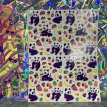 VTG Lisa Frank Complete Sticker Sheets Fabulous Fruit Panda Ling Ling S666 S251 image 2