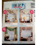 McCall's 8374  Home Dec-In-A-Sec Drapery Pattern 90 Min. To 3 Hour Proje... - $14.84