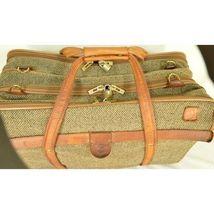 "Hartmann Luggage 21"" Tweed & Leather Vintage Carry on image 11"