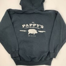 Pappy's Smokehouse St Louis BBQ Black Hoodie Jacket Men's Size L - $24.74