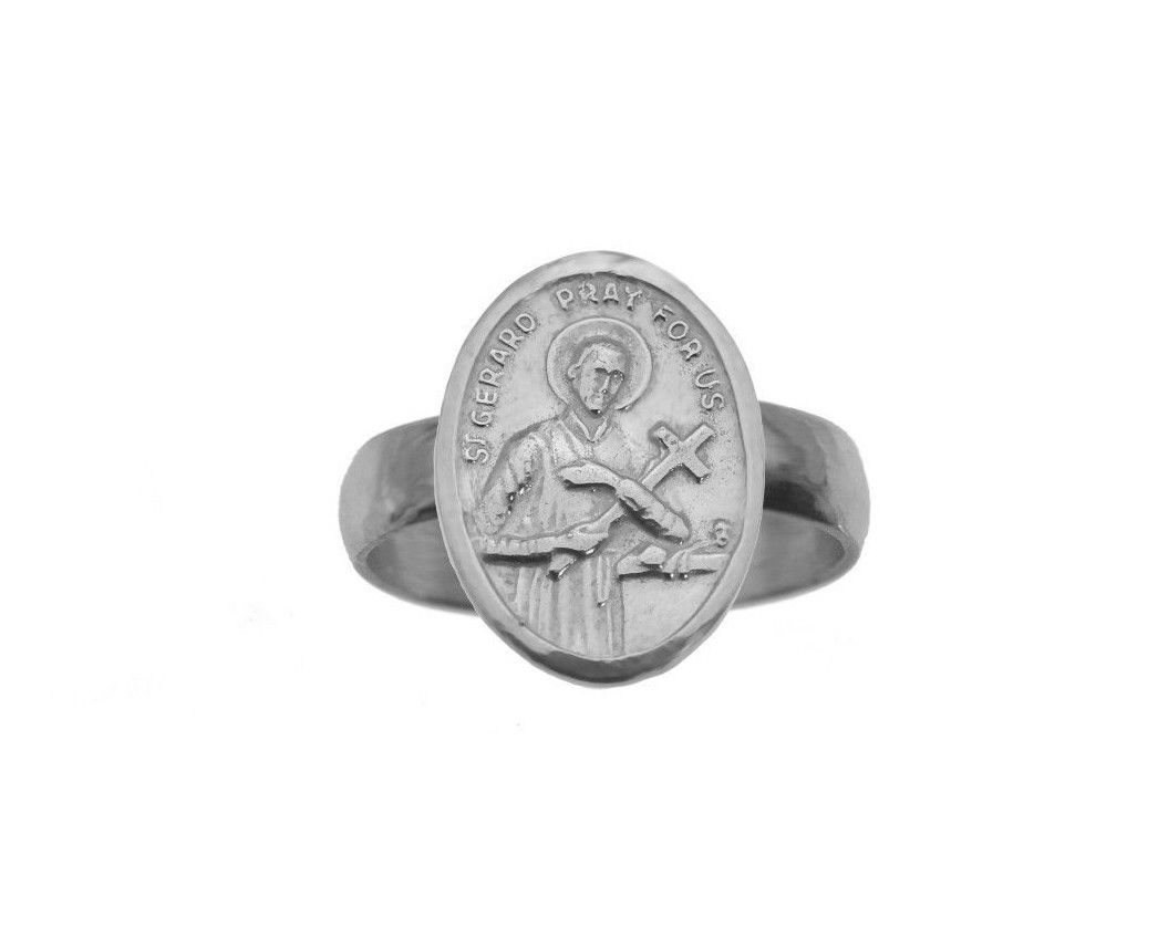 Saint Gerard Sterling Silver Ring childbirth Patron fertility expectant mother