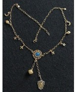 Vermeil Necklace with Vintage Charms & Enameled Religious Medals - $193.05