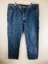 Izod Classic Fit Mens Jeans Cotton Vtg 90s 46x30 Tag Blue Denim - $14.95
