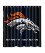 Denver Broncos 03 Shower Curtain Waterproof Polyester Fabric For Bathroom  - $33.30+